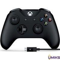 Геймпад Microsoft Xbox One S Wireless Controller Black + USB Cable for Windows (4N6-00002)