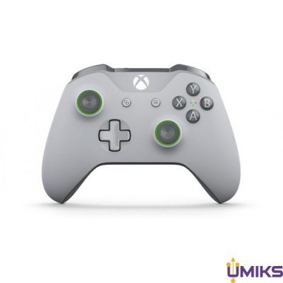 Геймпад Microsoft Xbox One S Wireless Controller Grey/Green (WL3-00061)