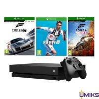 Игровая приставка Microsoft Xbox One X 1Tb + FIFA 19 + FORZA HORIZON 4 + FORZA MOTORSPORT 7