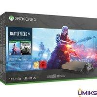 Игровая приставка Microsoft Xbox One X 1Tb + Battlefield V Deluxe Ed. + Battlefield 1 Revolution Ed. + Battlefield 1943