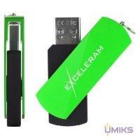 USB Flash накопитель eXceleram 64GB P2 Series Green/Black USB 2.0 (EXP2U2GRB64)