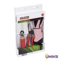 Набор секатор + садовый совок + перчатки VARO KREATOR (KRTGR7051)