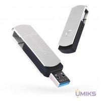 USB Flash накопитель eXceleram 128GB P2 Series Silver/Black USB 3.1 Gen 1 (EXP2U3SIB128)