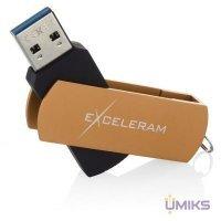 USB Flash накопитель eXceleram 128GB P2 Series Brown/Black USB 3.1 Gen 1 (EXP2U3BRB128)