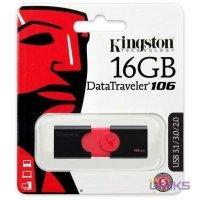 USB флеш накопитель 3.1 16GB Kingston DataTraveler 106 Black/Red (DT106/16GB)